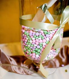Candy buffet with colors to match your spring wedding | Photo by Corbin Gurkin Photography