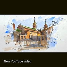 Latest video posted on YouTube. A church on Spadina from the back alley. Link to my YouTube Channel is in my bio or Cut and Paste:  https://m.youtube.com/c/petersheelerart  #Video #youtube #youtubers #landscape #art #original #watercolor #winsorandnewton #watercolour #painting #paintingaday #penandink #waterbrush #urbansketch #urbansketchers #winsornewtonmarkers  #urbansketcher #architecture #ink #moleskine_arts #usk #ImagesofCanada #imagesoftoronto