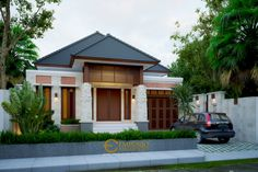 Desain Rumah Bapak Ammal Rozib @ Sumatera Selatan by Emporio Architect Bali House, Maids Room, Architectural Services, House Entrance, Story House, Inspired Homes, Minimalist Home, Little Houses, Apartment Design