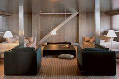 MARIÙ megayacht Giorgio Armani commissioned to be built by Codecasa filled with Armani/Casa furniture
