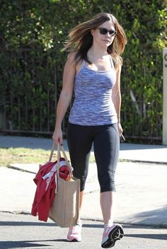 Actress Sophia Bush at Workout Session