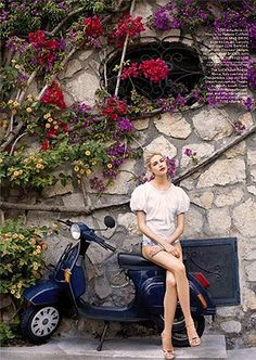 flowers + scooter