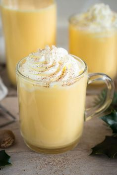 Eggnog, homemade Eggnog, selbstgemachter Eierpunsch This punch tastes really good not only at Christmas. Even if you come home from a cold winter walk, or … - Sweet Watermelon, Watermelon Lemonade, Eggnog Rezept, Homemade Eggnog, Homemade Whiskey, Coffee Drink Recipes, Shot Recipes, Coffee Dessert, Easy Cocktails
