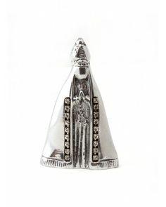 Nossa Senhora P com Cristal - #Swarovski #cristais #aluminio #decoracao #nossasenhora