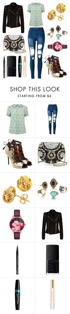 """""""star"""" by massielcristina on Polyvore featuring moda, WithChic, Malone Souliers, From St Xavier, Ted Baker, Balmain, NYX, NARS Cosmetics y Tory Burch"""