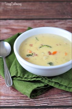 Three-Cheese Beer Soup from Very Culinary. ☀CQ #soups