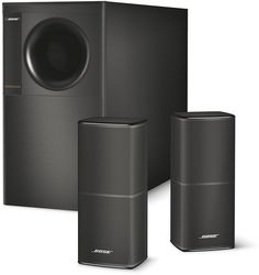 Bose ® Acoustimass 5 Series V Stereo Lautsprecher System schwarz Bose Home Theater, Best Home Theater Speakers, Home Theater Speaker System, Best Home Theater System, Home Speakers, Stereo Speakers, Audio System, Portable Speakers, Wireless Surround Sound