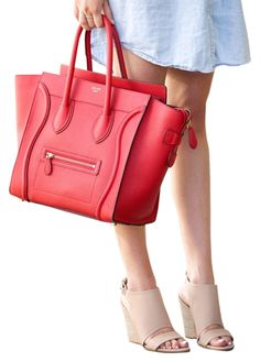 44e4aa1e9d25 Cline Mini Luggage Brand New Red Tote Bag. Get one of the hottest styles of