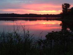 Sunset at Perrin Lake
