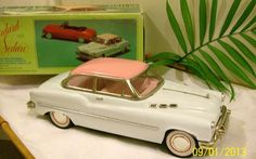 Vintage Voiture Tin Metal 1950 Buick Standard Sedan Friction Powered Toy Car | eBay