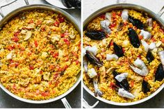 Spanish Paella Recipe - Tastes Better from Scratch Best Paella Recipe, Spanish Paella Recipe, Rice For Paella, Paella Easy, Seafood Paella, Vegetarian Paella, Healthy Cooking, Cooking Recipes, Frozen Seafood
