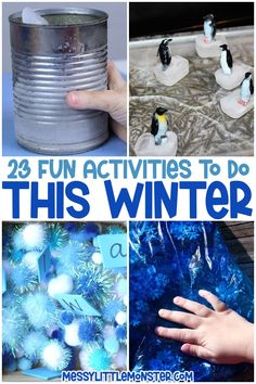 kids winter activities Winter Activities For Kids, Craft Activities For Kids, Stem Activities, Activity Ideas, Cool Art Projects, Craft Projects For Kids, Easy Crafts For Kids, Craft Ideas, Winter Kids
