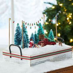 This easy to make DIY Tree Forest Miniature Scene is perfect for holiday decorating on a smaller scale.