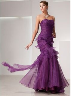 Prom Dresses - $177.99 - Trumpet/Mermaid Strapless Floor-Length Organza Prom Dress With Cascading Ruffles  http://www.dressfirst.com/Trumpet-Mermaid-Strapless-Floor-Length-Organza-Prom-Dress-With-Cascading-Ruffles-018014441-g14441
