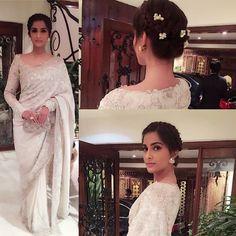 Sonam Kapoor #saree #sari #indian #indianfashion