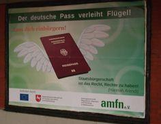 #Politikversagen Der deutsche Pass verleiht Flügel! Lass dich einbürgern! Staatsbürgerschaft ist das Recht, Rechte zu haben! — Gefördert durch EU, NRW & amfn e.V.