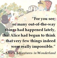Nothing is every really impossible!  #quote #literature