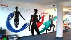 Fitness room wall graphic in BDO office building - Branding - Sakál Design - lo., Fitness room wall graphic in BDO office building - Branding - Sakál Plan - lo. Fitness room wall graphic in BDO office building - Branding - Sakál. Clinic Design, Gym Design, Logo Design, Graphic Design, Fitness Design, Fitness Logo, Fitness Studio, Karate, Gym Center