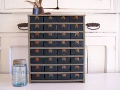 Vintage Industrial Storage Cabinet by QuirkyAndQuaint on Etsy, $39.50