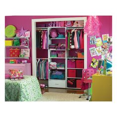 Closet organization for K's room. This is pretty much what I was envisioning. Now to do it.