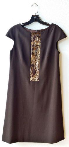 Badgley Mischka pepper dress with front beading  size14  #badgley #badgley-mischka #beaded #beads #designer #dress #mischka #pepper