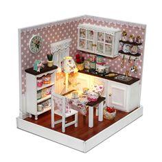 "Häuser DIY Holz LED Puppenhaus Miniatur Dollhouse Puppenstube ""cradle on the beach"""