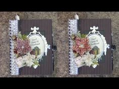 PART 1 TUTORIAL 8.5 x 6.5 CHRISTMAS ALBUM DESIGNS BY SHELLIE CLASSIC CHRISTMAS TRADITIONS - YouTube