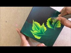 Floral Work On Wooden Box - YouTube