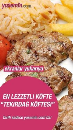 Would you like to try Tekirdağ meatballs, which is one of the most popular and famous street flavors of Tekirdağ? Here you can easily . Good Meatloaf Recipe, Best Meatloaf, Meatloaf Recipes, Meatball Recipes, Soup Recipes, Salad Recipes, Snack Recipes, Dinner Recipes, Easy Weeknight Meals