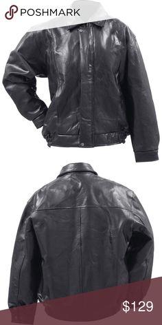 Buffalo Bomber Leather Jacket Features elastic waist, 2 exterior pockets, 2 interior pocket, wrist snaps, and gun metal snaps. Fully lined. Italian Stone Jackets & Coats