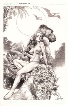 ECCC 2014 Cavewoman by Jay Anacleto, in Kirk Dilbeck's 3-Wishes presents: Jay Anacleto Pin Ups Comic Art Gallery Room - 1128416