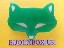 LEA STEIN VINTAGE GOUPIL FOX HEAD BROOCH
