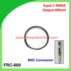 input 5000A FRC-600 flexible rogowski coil with BNC connector output 500mV split core current transformer