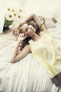 Yellow NightgownviaSkinny Sonders #fashion