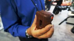 NAB 2013: Movcam Wooden Handgrip with rec trigger - for Blackmagic Cinema Camera by cinema5D. See the related article on cinema5D: