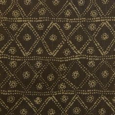 Zig Zag in Moca from Carolina Irving #textiles #fabric #linen #handprinted #brown