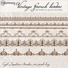 Vintage French Clip Art | Vintage French Borders digital clip art and by TanglesTreasures, $4.50