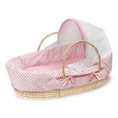 Nursery Furniture Energetic Pink Moses Basket Dressing Set