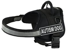 DT Works Harness, Autism Dog, Black/White, XX-Small - Fits Girth Size: 18-Inch to 21-Inch *** Be sure to check out this awesome product.