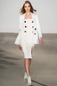 New York Fashion Week Fall 2013 Altuzarra- a sleek all white look.