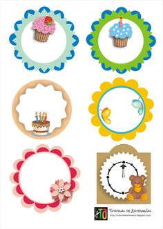Tutorial de Artesanías: 30 Etiquetas imprimibles gratis Eid Crafts, Diy And Crafts, Paper Crafts, Birthday Frames, Birthday Cards, Quilling 3d, Stickers, Name Cards, Digital Stamps