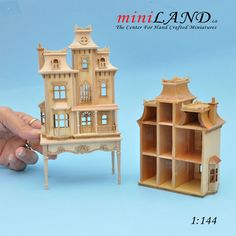 Victorian back opening DOLLHOUSE FOR DOLLHOUSE WITH TABLE Unfinished 1:144 scale -Top Quality Victorian Dollhouse, Victorian Dolls, Beacon Hill Dollhouse, Miniature Rooms, Miniature Houses, Barbie Gowns, Fairy Houses, Doll Houses, Tiny Treasures