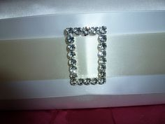 #Bridal #Buckle #Couture #CakeStand #Ivory #White #Satin #Wedding Elegance Details by Cake It Up, LLC