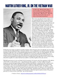 an introduction to the literary analysis of the speech made by martin luther king Analyzing the influence of martin luther king junior's i have a dream speech on the success of barrack obama's presidential campaign introduction.