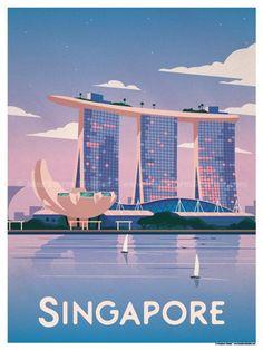 Singapore Poster by IdeaStorm Studios Available for sale at ideastorm. - Singapore Poster by IdeaStorm Studios Available for sale at ideastorm. Old Poster, Poster Poster, Poster City, Photo Vintage, Vintage Ski, Vintage Crafts, Singapore Travel, Sands Singapore, Singapore Art