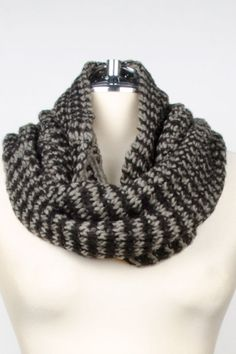 Nine West Rachel Reversible Mixed Media Neck Warmer In Black