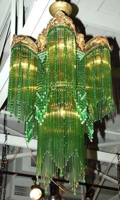 Art Nouveau Chandelier by Janny Dangerous