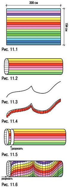Барджелло - схемы сборки лоскутной части квилта