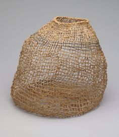 Ed Rossbach | Raffia Lace Basket (1973) | Museum of Modern Art Collection. Woven basket.