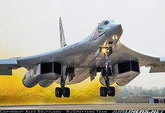 """Air Force - Tupolev """"Tu-160""""  (NATO Name: Blackjack) Is the World's Largest Supersonic, Variable Sweep Wing Heavy Strategic Bomber. Only the North American XB-70 Valkyrie had Higher Empty Weight and Maximum Speed (1)"""